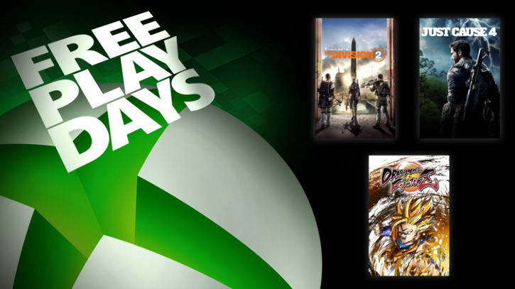 Xbox Free Play Days: Dragon Ball FighterZ, The Division 2 и Just Cause 4