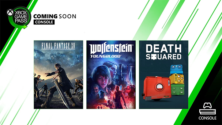Пополнение каталога Xbox Game Pass: Final Fantasy XV, Wolfenstein: Youngblood, Death Squared