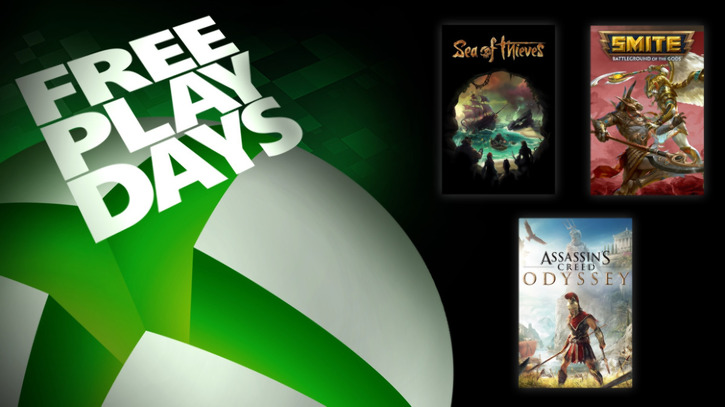 Xbox Free Play Days: Sea of Thieves, Assassin's Creed: Odyssey, Smite