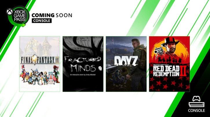 Пополнение каталога Xbox Game Pass: Final Fantasy IX, DayZ, Fractured Minds, Red Dead Redemption 2
